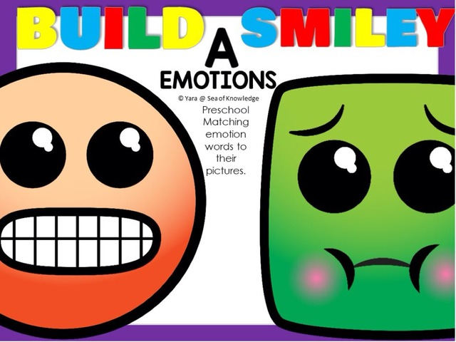 Emotion Words Build A Smiley by Yara Habanbou