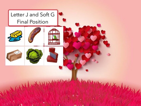 Letter J And Soft G: Final Position  by Carol Smith