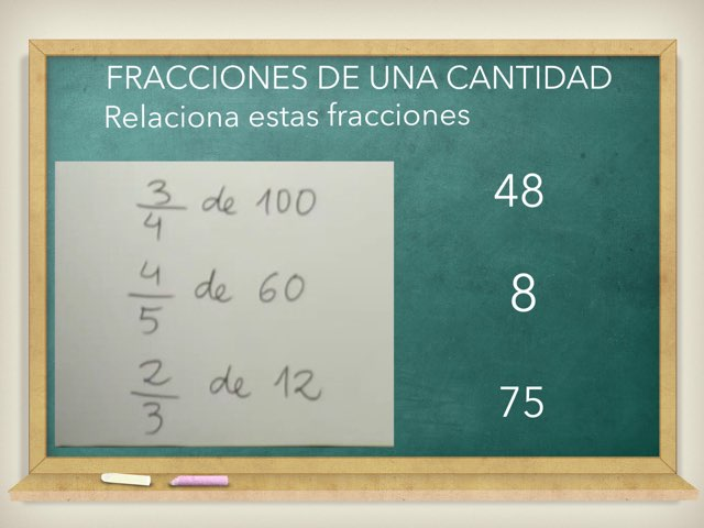 FRACCIONES DE UNA CANTIDAD by Javier Cerveró