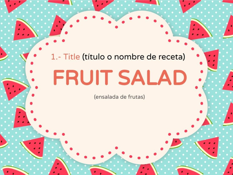 FRUIT SALAD by Verónica Meléndez
