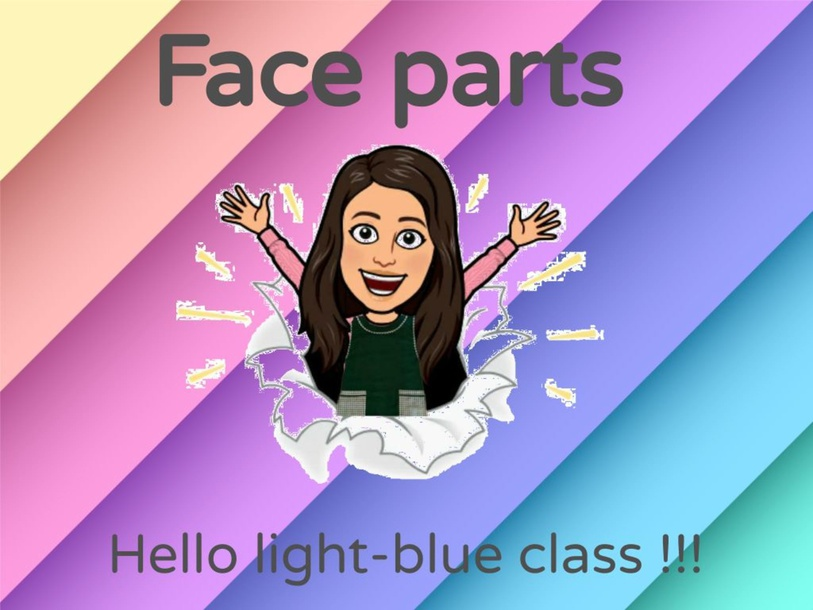 Face parts game for light-blue class by Miss Flor