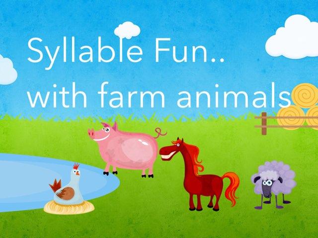 Farm Animal Syllable Fun by Kristen VanVleet