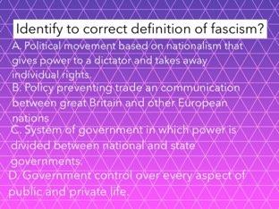 Fascist Trivia  by Lindsey Roynon