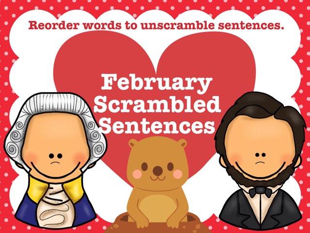 February Scrambled Sentences by Jennifer
