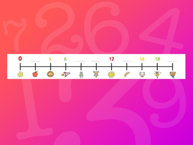 Fill In The Count In 2s Number Line  by Deborah Fletcher