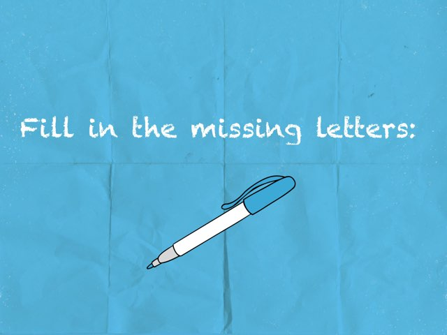 Fill In The Missing Letters G5 by Aseel Al-n