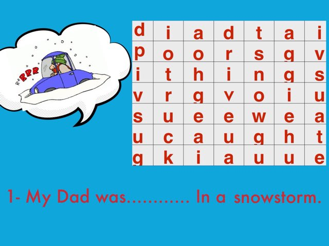 Find The Word ( G5) Snow Storm by Safaa Mohamed