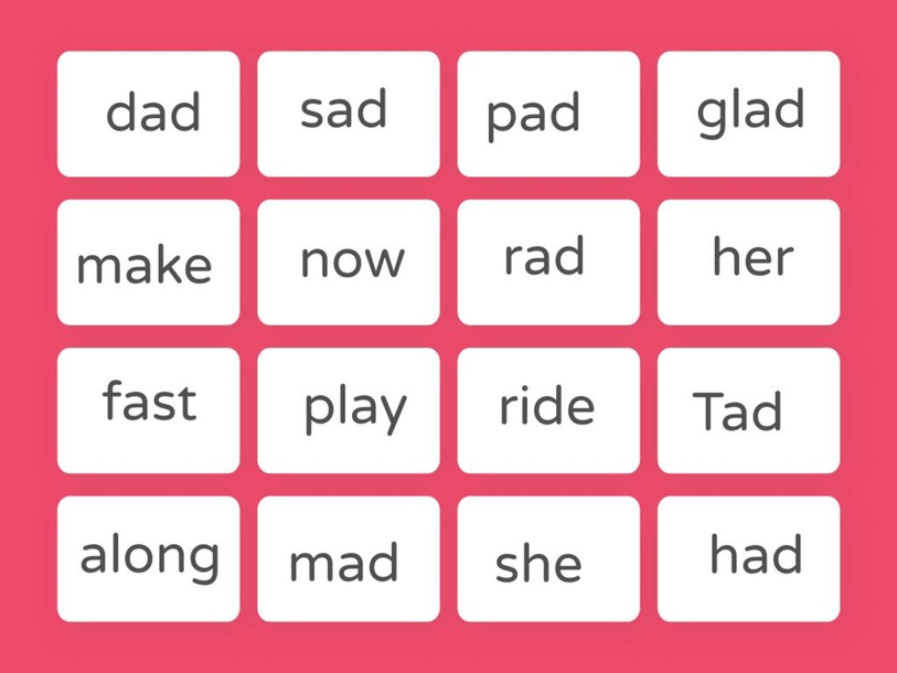 Find The Words... -ad words and Lesson 6 and 7 Review by Holly Alvis