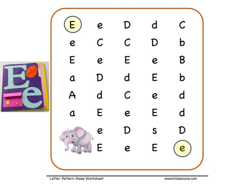 Find letter Ee by nata sh