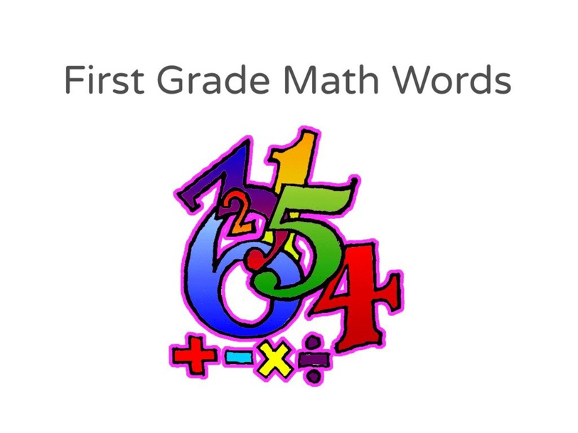 First Grade Math Words by Katherine Sowders