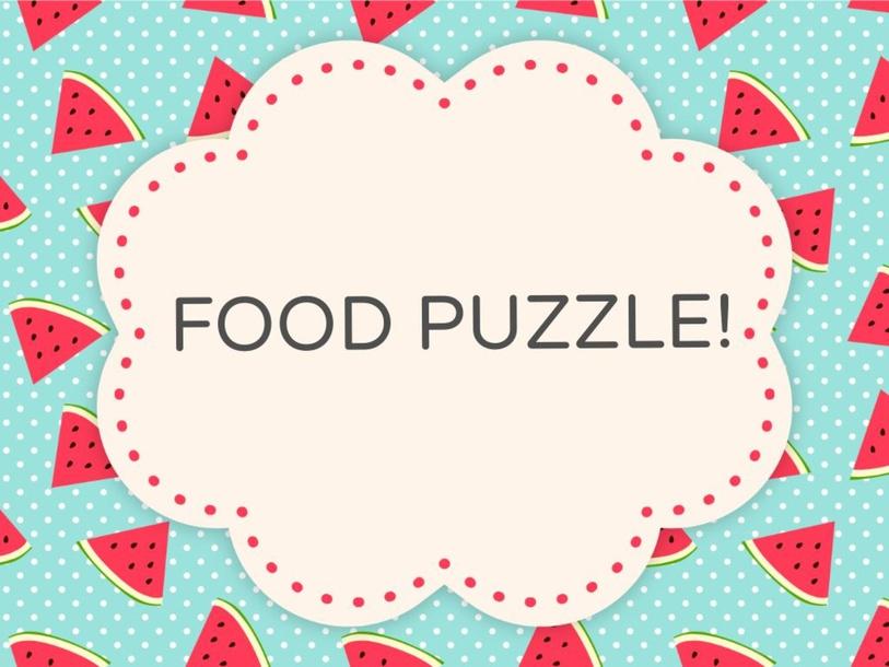 Food Puzzle by Agustina Suarez