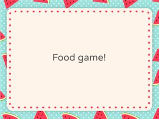 Food game by Agustina Suarez