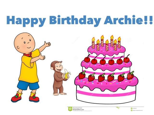 For My Brother Archie's Birthday by Annie Chen-marusich