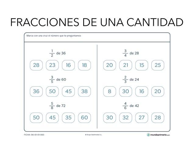 Fracciones De Una Cantidad by Emma Falcó