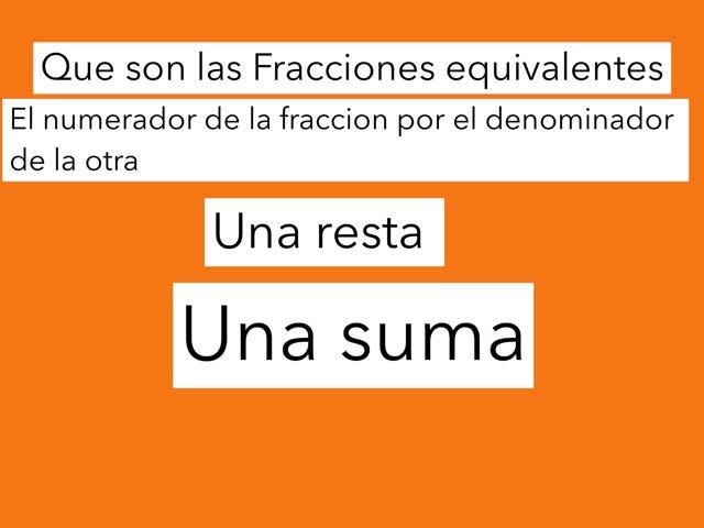 Fracciones Equivalentes by Jose Lledó Domingo