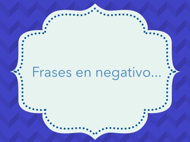 Frases En Negativo by Zoila Masaveu