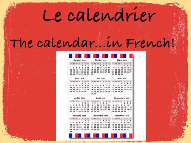 French Calendar by Alicia svonavec