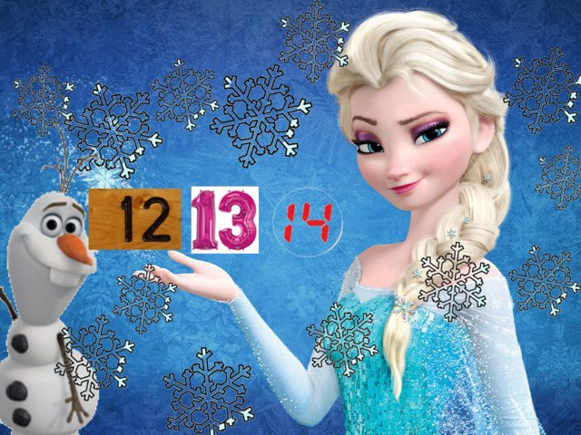 Frozen - Recognizing Numbers 13,14,15 by C O Grady
