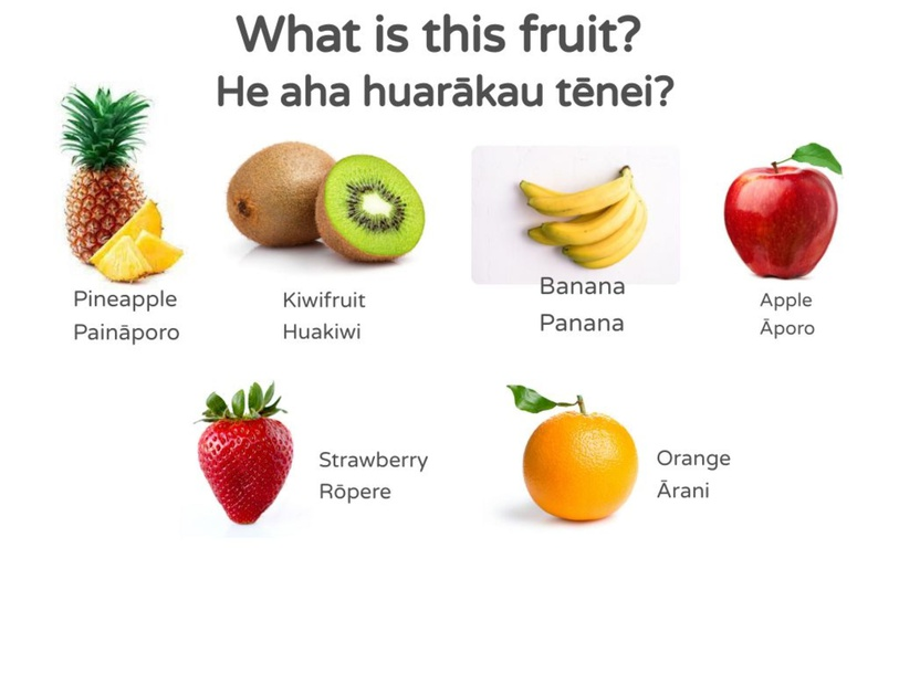 Fruit/Huarākau Matching Game by Ryan Simpson