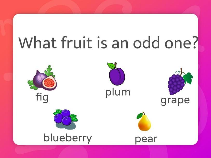 Fruits: Odd One Out by Anastasiia Sinelnik