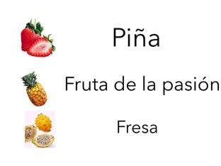 Frutas by Curso CFTIC