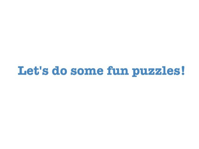 Fun EASY KID puzzles by Jas Brian
