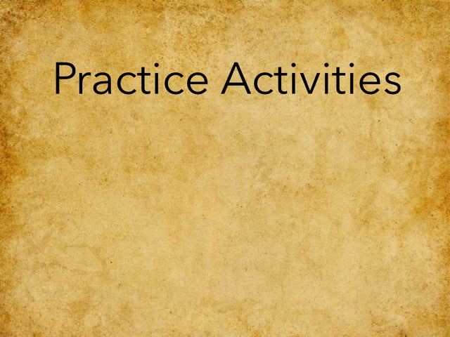 Fun Practice Activities by Rob Bentley