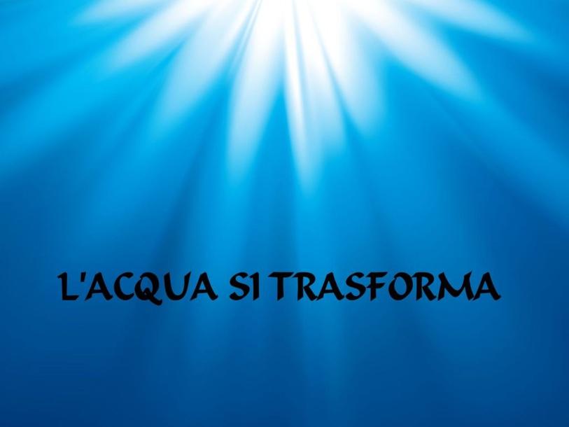 GLI STATI DELL'ACQUA by Caterina Mazzi