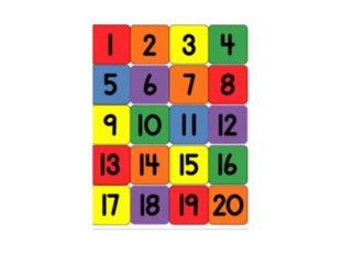 Numbers to 20  by Rebecca Johnson