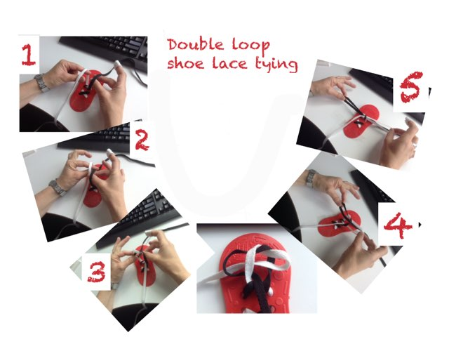 Learn a fun way to learn to tie your shoe laces. by Lisa palmer