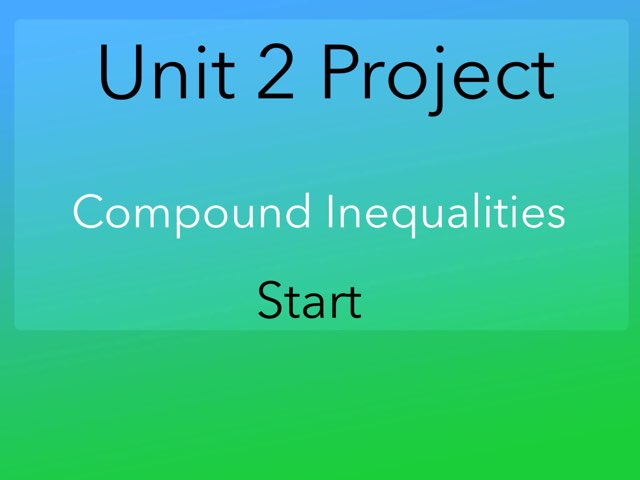 Compound inequalities by Chris ramirez