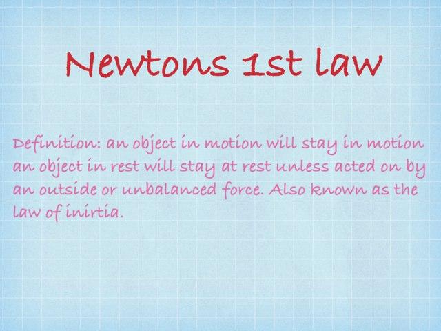 Newton's First Law by Montana Woodard
