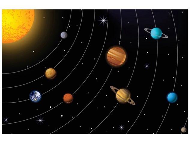 Trykk på planetene for å høre deres navn. by Brita Fuglem