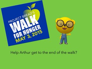 Arthur want yo walk for the walk for hunger  by Doha fares