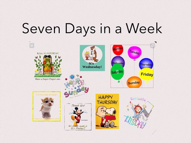Seven Days a week  by Bente Andsbjerg