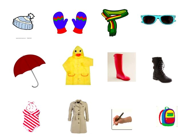 Clothing Accessories Vocabulary by Yuan zhao