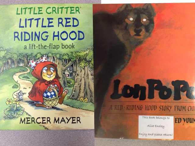Comparing two Red-Riding Hood stories by Maria Garcia