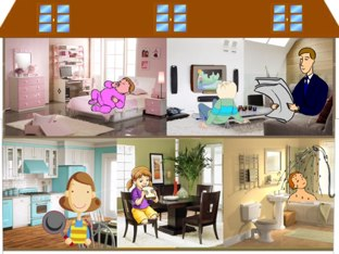 My house  Action verbs   by Asma Omar