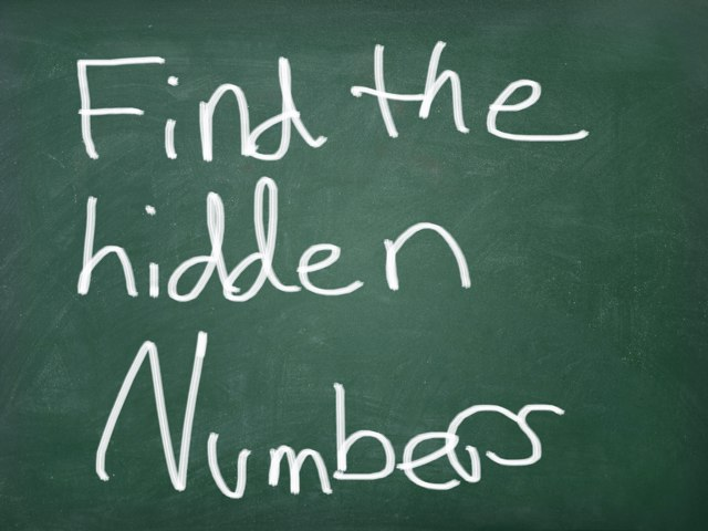 this  short game, about hidden numbers by Anna Robinson
