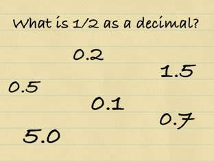 Fractions to decimals by Leah Atkinson