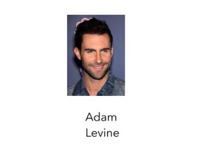 A game to practice Adam Levine by Room 207