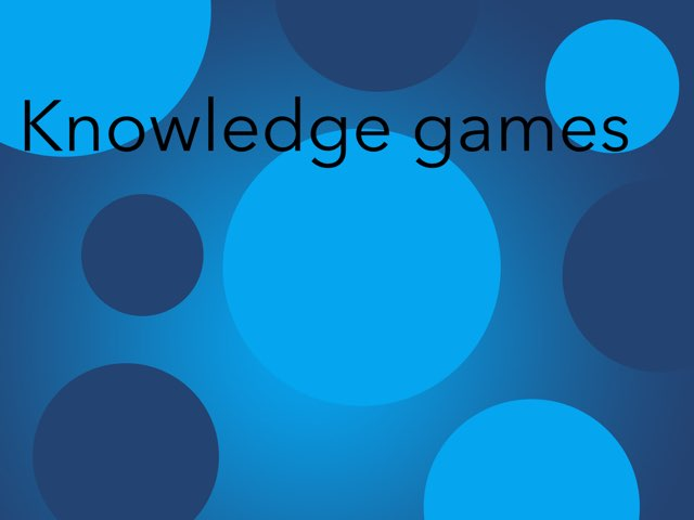 Knowledge games by Pilot Elementary