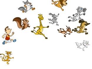 Running mammals by Karie Heinitz