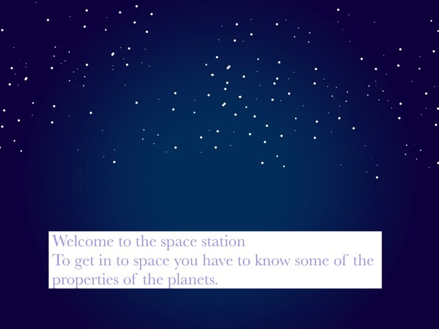 Planet Game Take a quiz to go to space!!!!! by Lily