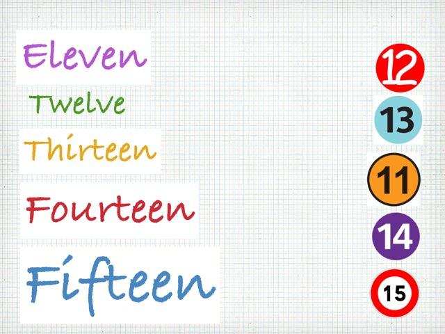 Matching numbers by Sama Salama