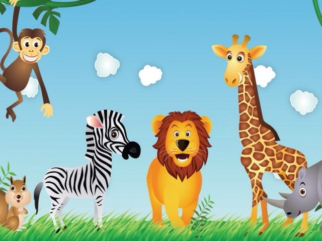 Animals from the zoo  by Helen Burt