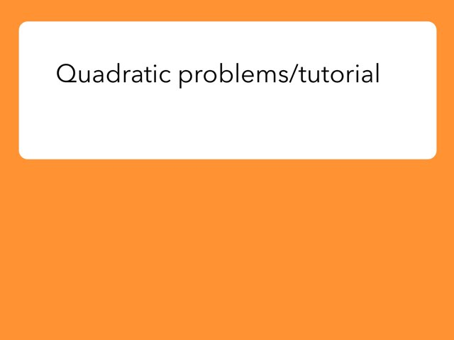 This is a quadratic formula project by Ethan Francois