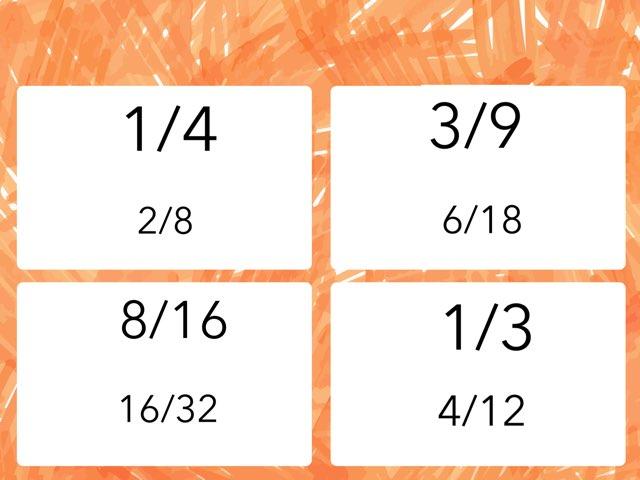Equivalent fractions sample by Jeremie Coplin