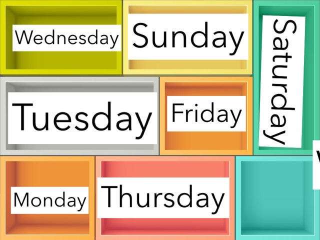 Days of the week - before and after by Tanya stone