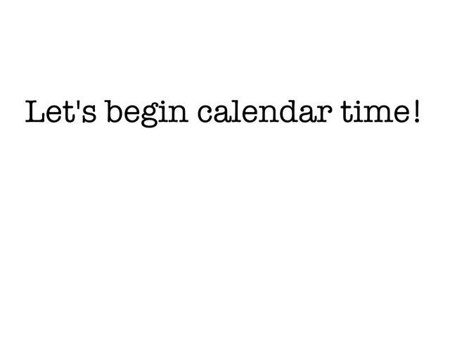Visual Aid for calendar time by Sabrina Choo